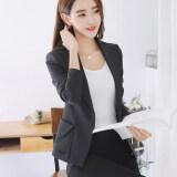ขาย สามารถ Ni เกาหลีใหม่ลำลองชุดสูทแขนยาวแฟชั่นเสื้อกันหนาว สีดำ ออนไลน์