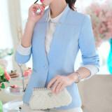 ขาย สามารถ Ni เกาหลีฤดูใบไม้ผลิและฤดูใบไม้ร่วงใหม่ลำลองแขนยาวผู้หญิงเสื้อสูท สีฟ้า ใหม่
