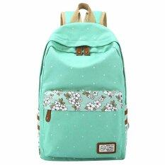 ราคา Niceeshop Floral Print Casual Lightweight Canvas Backpack ใหม่ ถูก
