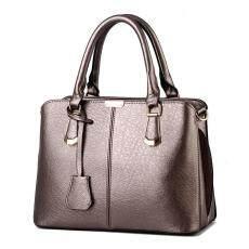 niceEshop Womens Boutique PU Leather Shoulder Bags Top-Handle Handbag Tote  Purse Bag Bronze - ca7328d68561d