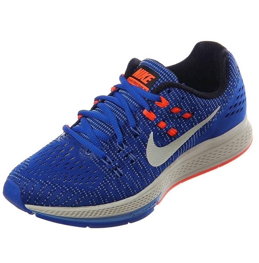 โปรโมชั่น Nike รองเท้าวิ่งผู้หญิง Women S Nike Air Zoom Structure 19 806584 408 Racer Blue Sail Black Hyper Orange Nike ใหม่ล่าสุด