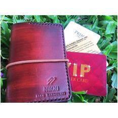 ขาย Nikki Siam Handcraft กระเป๋าใส่บัตร 20 ช่อง หนังแท้ฟอกฝาด ถูก