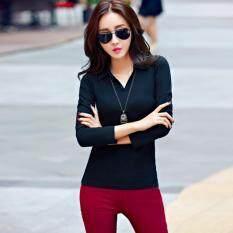 ขาย Nimo เสื้อยืดแขนยาวแฟชั่นเกาหลี รุ่น 3003 สีดำ