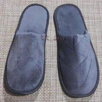 NK Furniline รองเท้าใส่ในบ้าน Size L (10x30cm.) แบบหัวปิด ผ้าขนแกะสีเทา