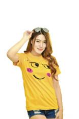 ขาย ซื้อ Nologo เสื้อยืด รุ่น หน้าเขิล สีเหลือง