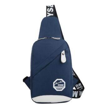 NongMe กระเป๋าสะพายไหล่ กระเป๋าคาดอก รุ่น-1988 (สีน้ำเงิน)