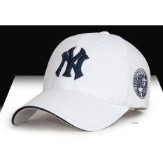 ส่วนลด หมวกแก๊ปปีกโค้ง Ny Gen2 ขาว