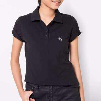 OASIS เสื้อโปโลหญิง เสื้อโปโลคอปก  รุ่น LMP0157-BL สีดำ