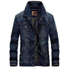 ซื้อ โอเชี่ยนแฟชั่นผู้ชายใหม่เสื้อคลุมหลังแบบย้อนยุค สีน้ำเงินเข้ม ถูก ใน จีน