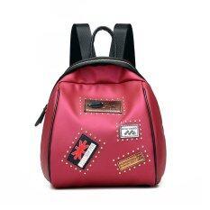 ส่วนลด สินค้า Ocean Fashion New Woman Backpack Zipper Shell Shape Pu College Wind Badge Casual Collocation Tide Pack Red Intl