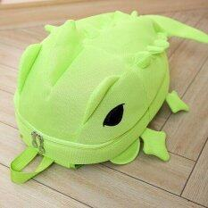 ทบทวน Ocean Fashion New Woman Backpacks Creative Monster Dinosaur Cartoon Lovely Sweet Unisex Sch**l Bag Fluorescent Green Intl