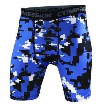 Ocean ผู้ชายกางเกงในการเคลื่อนไหวการออกกำลังกายการออกกำลังกายการวิ่งแบบยืดหยุ่นเร็ว (สีฟ้า) - สนามบิ-