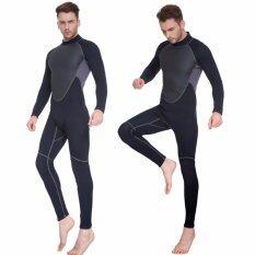 ขาย ชายกลางแจ้ง 3 มิลลิเมตรครึ่งดำน้ำชุดว่ายน้ำนีโอพรีนชุดว่ายน้ำ สีดำ ถูก