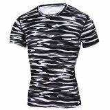 ราคา Ocean Men Shirts Sports Training Fitness Running Short Sleeve Elastic Quick Drying T Shirt (Multicolor) Intl ราคาถูกที่สุด