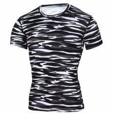 ราคา Ocean Men Shirts Sports Training Fitness Running Short Sleeve Elastic Quick Drying T Shirt (Multicolor) Intl ออนไลน์