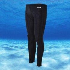 ราคา Ocean ผู้ชายกีฬากางเกงว่ายน้ำกันน้ำได้อย่างรวดเร็วฉลามผิวดำน้ำท่องชุดว่ายน้ำ สีดำ เป็นต้นฉบับ Unbranded Generic