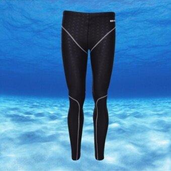 ชายกีฬากางเกงว่ายน้ำกันน้ำได้อย่างรวดเร็วแห้งผิวปลาฉลามดำน้ำท่องกางเกง (สายสีเทา)-นานาชาติ