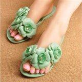 ขาย ซื้อ Ocean New Camellia Flat Sandals Flip Flops Summer Jelly Women S Shoes(Green) Intl