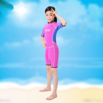 ใหม่เด็กแขนยาวท่องเสื้อผ้าชุดว่ายน้ำ (สีแดง)-สนามบินนานาชาติ