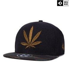 ราคา Ocean New Fashion Men Hats Reggae Hip Hop Hemp Leaf Canvas Embroidery Flat Edge Cap Baseball Cap Brown Intl ออนไลน์ จีน