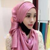 ซื้อ Ocean New Fashion Women Muslim Hijabs Spun Gold Cotton Modal Cotton Decorate Hijabs Pink Intl Unbranded Generic เป็นต้นฉบับ