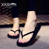 ซื้อ Ocean New Ladies Fashion Flip Flops Flat Beach Shoes Sandals All Black Intl ออนไลน์ จีน