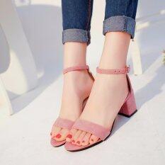 ขาย Ocean New Ladies Fashion High Heeled Sandals European Roman S*xy High Heeled Shoes Pink Intl Unbranded Generic ออนไลน์