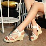 ราคา Ocean New Ladies Fashion Wedge Sandals Bohemia Beach Shoes High Heels White Intl ใหม่