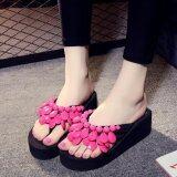 ขาย ซื้อ ออนไลน์ Ocean New Ladies Fashion Wedge Slippers Manual Beads Sandals(Pink) Intl