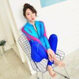 ขาย Ocean New Lady Conjoined Diving Suit Long Sleeve Prevent Bask In A Bathing Suit Blue Intl ถูก ใน จีน