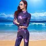 Ocean New Lady Long Sleeve Conjoined Diving Suit Surfing Clothes 3 Mm To Keep Warm(Starry Sky) Intl จีน