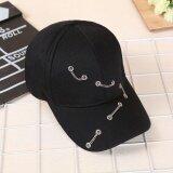 ราคา Ocean New Men Fashion Hats Chain Simple Three Ring Sun Sports Street Baseball Hat Unisex Black Intl Unbranded Generic เป็นต้นฉบับ