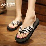 ทบทวน Ocean New Women S Sandals Flip Flops Bohemian Beach Shoes(Satin Zebra) Intl Unbranded Generic