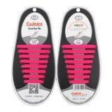 ซื้อ Oh 1 Set 16Pcs New Novelty No Tie Shoelaces Elastic Silicone Shoe Lace Unisex Pink Unbranded Generic ออนไลน์