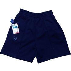 Oic Sport กางเกงวอร์มเด็ก ขาสั้น / เด็ก - 888 (สีกรมท่า)  Xs-Xxl.