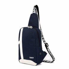 ราคา Ok กระเป๋า กระเป๋าสะพายข้างสำหรับผู้ชาย มีช่องใส่หูฟัง รุ่น 8090 สีน้ำเงินเข้ม ใหม่ล่าสุด