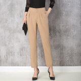 ซื้อ กางเกงเอวสูงกางเกงผอม Ol ขนาดเล็ก สีกากี ใน ฮ่องกง