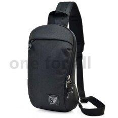 ราคา One For All กระเป๋าผู้ชาย กระเป๋าสะพายไหล่ Size 29X15X8Cm 02 Black Unbranded Generic เป็นต้นฉบับ