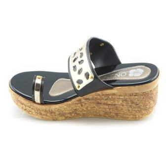 Onto รองเท้าแตะส้นเตารีด รุ่น LP414 (black)