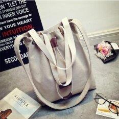 ซื้อ Orange กระเป๋าผ้าสะพายข้าง สไตล์หมอคัง สีเทา White ใน กรุงเทพมหานคร