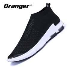 Oranger Slip On Breathable Loafers Basketshigh Top Superstar Trainers Slipony Mens Shoes Casual Lazy Shoes Black Intl ใหม่ล่าสุด