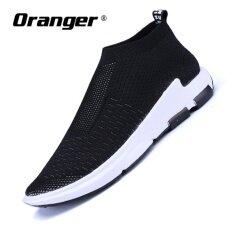 ซื้อ Oranger Slip On Breathable Loafers Basketshigh Top Superstar Trainers Slipony Mens Shoes Casual Lazy Shoes Black Intl Unbranded Generic ออนไลน์