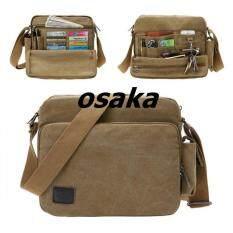 ขาย ซื้อ ออนไลน์ Osaka กระเป๋าสะพายข้างผู้ชาย ผ้า Canvas รุ่น Nb700 สีกากีอมเขียว