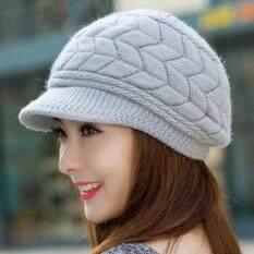 ราคา Osaka หมวกผ้าไหมพรมลายถัก รุ่น Up43 สีเทา ใน ไทย