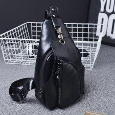 ซื้อ Osaka กระเป๋าหนังสะพายไหล่ คาดอก รุ่น Up03 ดำ ถูก
