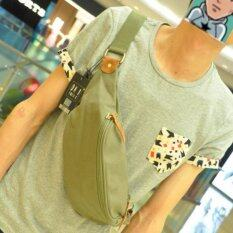 ราคา Osaka กระเป๋าสะพายไหล่ คาดอก คาดเอว ผ้า Canvas รุ่น Ne51 สีเขียว เป็นต้นฉบับ