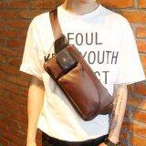 ขาย รับประกันสินค้า Osaka กระเป๋าสะพายไหล่ คาดอก คาดเอวผู้ชาย หนังPu รุ่น Ne73 สีกาแฟ ออนไลน์