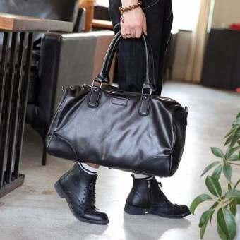 Osaka กระเป๋าสะพายไหล่ผู้ชาย หรือถือ กระเป๋าเสื้อผ้า รุ่น NE151  ( สีดำ )-