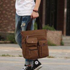 ขาย Osaka กระเป๋าสะพายข้าง หรือถือ ใส่ Note Book ได้ รุ่น Up100 สีกากี ถูก