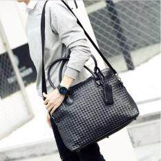 ขาย Osaka กระเป๋าหนังลายถัก ถือ หรือสะพาย รุ่น Ne55 สีดำ ไทย ถูก